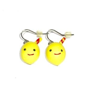 NWOT Claire's Lemonade Lemons Clay Earrings